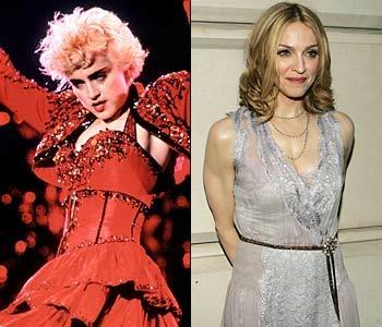 Madonna в молодости и сейчас